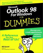 Cover of: Microsoft Outlook 98 for Windows for dummies
