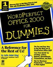 Cover of: WordPerfect Office 2000 for dummies | Julie Adair King
