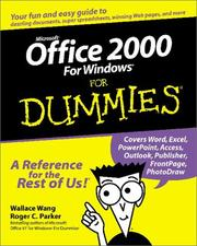 Cover of: Microsoft Office 2000 for Windows for dummies