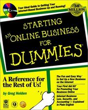 Cover of: Starting an online business for dummies
