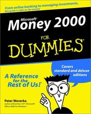 Cover of: Microsoft Money 2000 for dummies