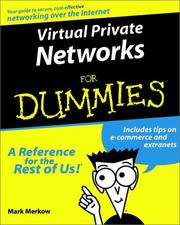 Cover of: Virtual Private Networks for Dummies