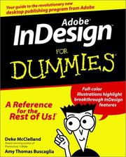 Cover of: Adobe InDesign for dummies | Deke McClelland