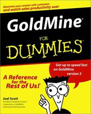Cover of: GoldMine for dummies