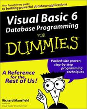 Cover of: Visual Basic 6 Database Programming for Dummies | Richard Mansfield