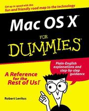 Mac OS X for dummies by Bob LeVitus