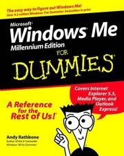 Cover of: Microsoft Windows Me for Dummies