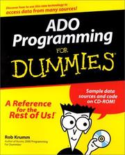 Cover of: ADO Programming for Dummies