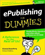 Cover of: Epublishing for dummies | Victoria Rosenborg