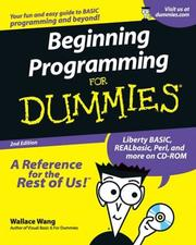 Beginning programming for dummies by Wally Wang
