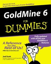 Cover of: GoldMine 6 for Dummies