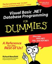 Cover of: Visual Basic .NET Database Programming for Dummies | Richard Mansfield