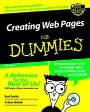 Creating Web pages for dummies by Bud E. Smith, Arthur Bebak