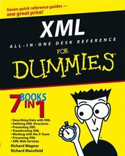 Cover of: XML all-in-one desk reference for dummies