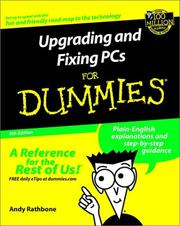 Cover of: Upgrading and Fixing PCs for Dummies