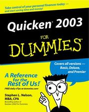 Cover of: Quicken 2003 for dummies