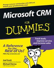 Cover of: Microsoft CRM for dummies