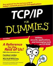 Cover of: TCP/IP for Dummies, Fifth Edition | Candace Leiden