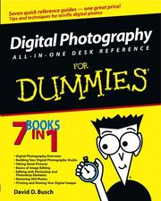 Cover of: Digital photography all-in-one desk reference for dummies