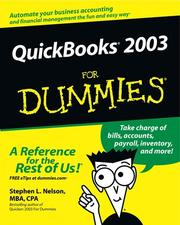 Cover of: QuickBooks 2003 for dummies