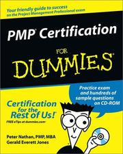 Cover of: PMP Certification for Dummies | Peter Nathan