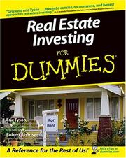 Cover of: Real estate investing for dummies