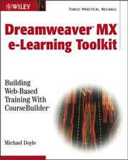 Cover of: Macromedia Dreamweaver e-Learning Toolkit