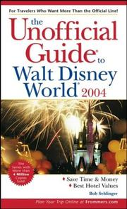Cover of: The Unofficial Guide to Walt Disney World 2004