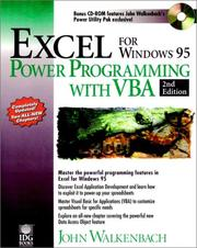 Cover of: Excel for Windows 95 power programming with VBA