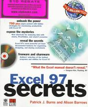 Cover of: Excel 97 secrets | Patrick Burns