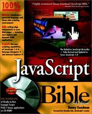 Cover of: JavaScript bible by Danny Goodman