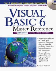 Cover of: Visual Basic 6 master reference