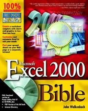 Cover of: Microsoft Excel 2000 Bible