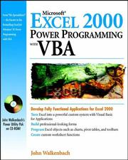 Cover of: Microsoft® Excel 2000 Power Programming with VBA