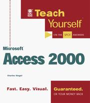 Cover of: Teach yourself Microsoft Access 2000
