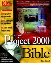 Microsoft Project 2000 Bible by Elaine Marmel