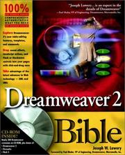 Cover of: Dreamweaver 2.0 Bible | Joseph W. Lowery