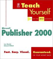 Cover of: Teach yourself Microsoft Publisher 2000
