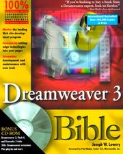 Cover of: Dreamweaver 3 Bible | Joseph Lowery