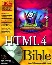Cover of: HTML 4 Bible
