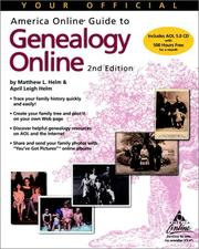 Cover of: Your official America Online guide to genealogy online