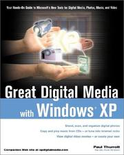 Cover of: Great Digital Media with Windows XP