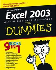 Cover of: Excel 2003 All-in-One Desk Reference for Dummies