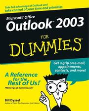 Cover of: Outlook 2003 for Dummies