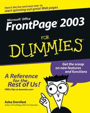FrontPage 2003 for dummies by Asha Dornfest