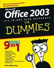 Cover of: Office 2003 All-in-One Desk Reference for Dummies