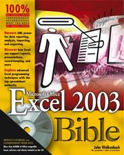 Cover of: Excel 2003 bible