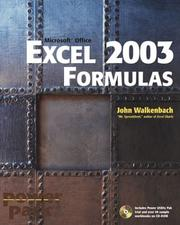 Cover of: Excel 2003 formulas