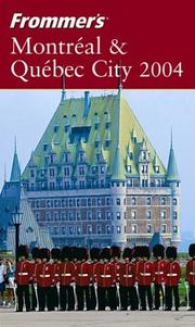 Cover of: Frommer's Montreal & Quebec City 2004