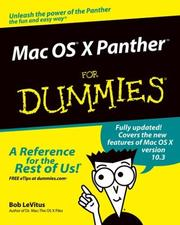 Cover of: Mac OS X Panther for dummies